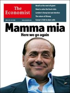 The Economist, edizione europea, copertina del 19 Aprile 2008